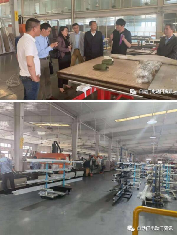 协会一行分别参观了紧急疏散平滑门、高端装甲门、不锈钢等产品的生产现场