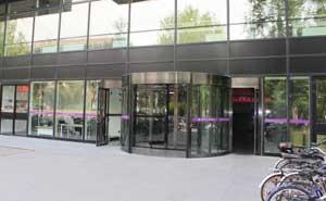 北京清华大学人文社科综合楼旋转门案例 - 北京中出网-城市出入口设备门户