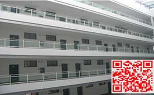 金华职业技术学院玻璃阳台护栏、飘窗护栏案例
