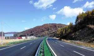 黑龙江省鹤大高速公路喷塑护栏案例