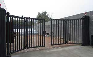 河北鼎丰有限公司智能无轨悬浮门工程案例 - 沧州中出网-城市出入口设备门户