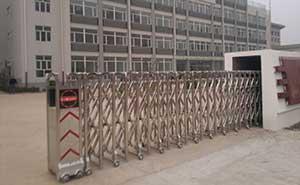 武装部伸缩门案例 - 廊坊中出网-城市出入口设备门户