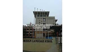 广州外国语小学旗杆案例 - 中出旗杆网