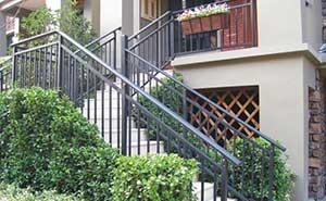 湖南衡阳小区楼梯护栏案例