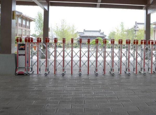 杭州出安智能伸缩门在杭州迪普科技股份有限公司这块宝地上长驻