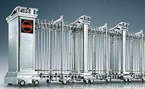 不锈钢伸缩门 - NB-雄狮 - 杭州中出网-城市出入口设备门户