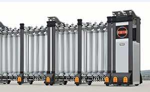 不锈钢伸缩门 - 枭龙-305B - 杭州中出网-城市出入口设备门户