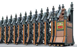 铝合金伸缩门 - 皇家雷神A(铝合金) - 杭州中出网-城市出入口设备门户