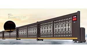 分段平移门 - 智能伸缩平移门909A(深咖) - 杭州中出网-城市出入口设备门户