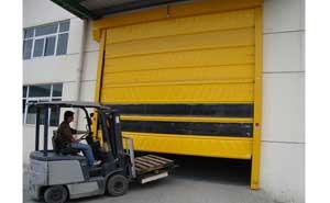 快速堆积门 - 车间通道专用地磁感应快速堆积门 - 杭州中出网-城市出入口设备门户