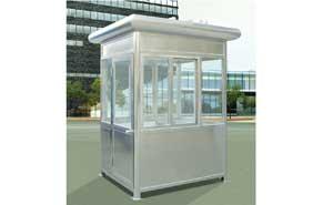 不锈钢岗亭 - 不锈钢椭圆岗亭D201 - 杭州中出网-城市出入口设备门户