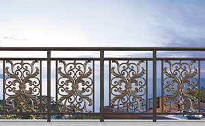 铝艺护栏 - 护栏FGL-H6003 - 杭州中出网-城市出入口设备门户