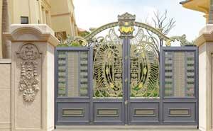 中海国际社区认准济南出安智能别墅铝艺大门