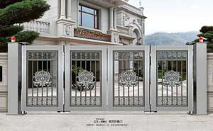钢艺大门 - 钢艺折叠门-GY-1004