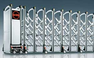 铝合金伸缩门 - 风行-W - 鞍山中出网-城市出入口设备门户
