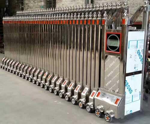 安阳市道诚机械有限公司电动伸缩门案例 - 安阳中出网-城市出入口设备门户