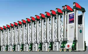 不锈钢伸缩门 - 忠诚卫士 - 北京中出网-城市出入口设备门户