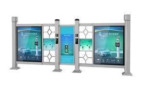 广告小门 - 人行通道智能广告门 - 北京中出网-城市出入口设备门户