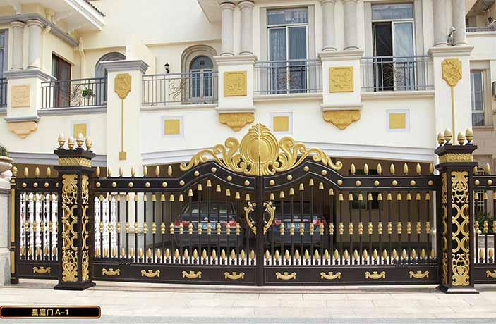 上海外滩豪景苑项目别墅铝艺大门支持单位上海出安智能