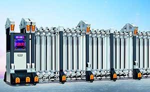 铝合金伸缩门 - 君威-908 - 上海中出网-城市出入口设备门户