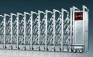 不锈钢伸缩门 - 瑞安-b - 天津中出网-城市出入口设备门户