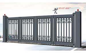 电动折叠门 - 智能悬浮折叠门-XFZD-X4A - 天津中出网-城市出入口设备门户