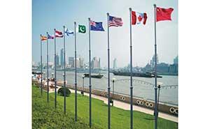 旗杆 - 铝合金电动旗杆Q800-G - 天津中出网-城市出入口设备门户