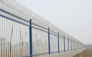鋅钢护栏 - 锌钢护栏三横栏1 - 天津中出网-城市出入口设备门户