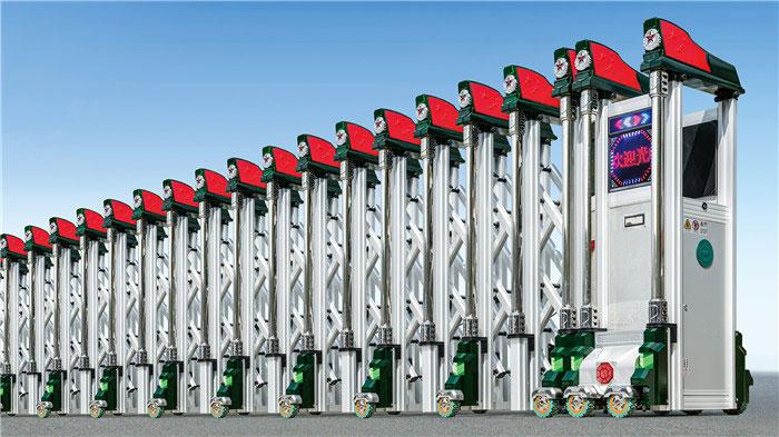 不锈钢伸缩门 - 忠诚卫士 - 重庆中出网-城市出入口设备门户