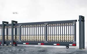 直线平移门 - 悬挂式直线门908C-H(深灰) - 青岛中出网-城市出入口设备门户