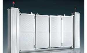 电动折叠门 - 智能悬浮折叠门-开泰LP-DD4A(白) - 青岛中出网-城市出入口设备门户