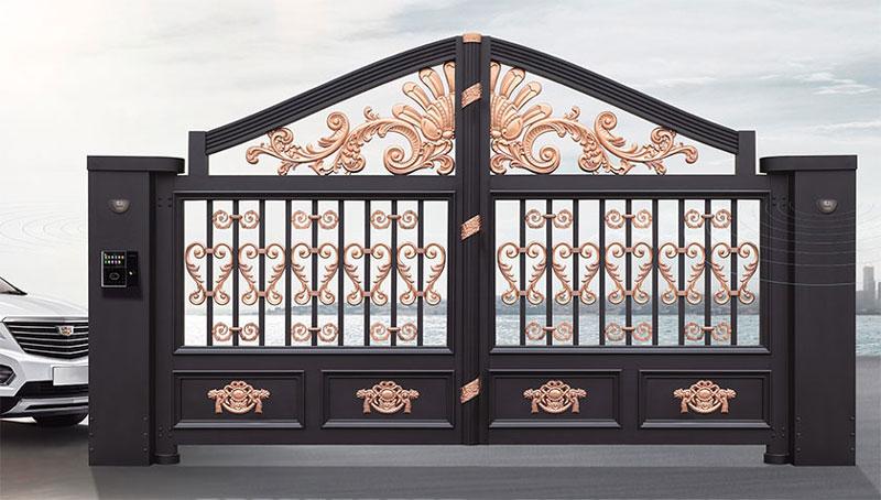 铝艺大门 - 别墅门LV-001 - 青岛中出网-城市出入口设备门户