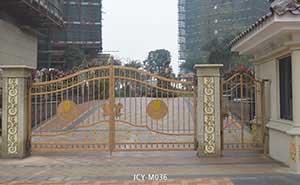 铁艺大门 - 铁艺大门 - 青岛中出网-城市出入口设备门户