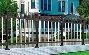 铝艺护栏 - FGL 护栏 02(古铜色) - 青岛中出网-城市出入口设备门户