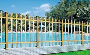 铝艺护栏 - FGL 护栏 03(钛金色) - 青岛中出网-城市出入口设备门户