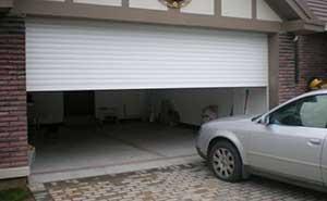 卷帘车库门 - 双层铝合金车库卷帘门 - 青岛中出网-城市出入口设备门户