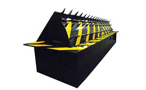 路障机 - 路障机110-带矛尖 - 宁波中出网-城市出入口设备门户
