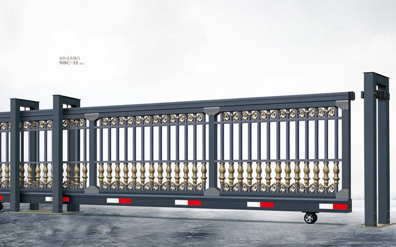 直线平移门 - 悬挂式直线门908C-H(深灰) - 东莞中出网-城市出入口设备门户