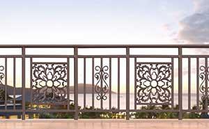 铝艺护栏 - 护栏FGL-H6002 - 东莞中出网-城市出入口设备门户