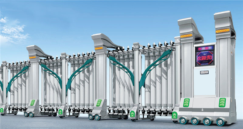 不锈钢伸缩门 - 雄狮-630B3 - 南通中出网-城市出入口设备门户