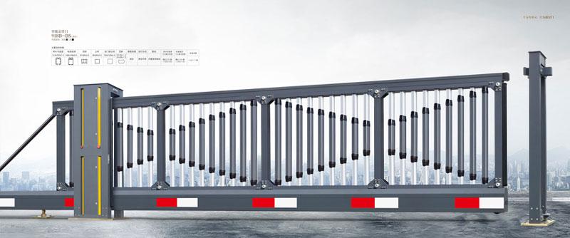 悬浮平移门 - 智能悬臂门918B-BS(深灰) - 镇江中出网-城市出入口设备门户