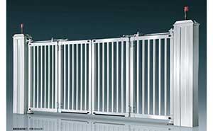 电动折叠门 - 智能悬浮折叠门-开泰DD4A(白) - 镇江中出网-城市出入口设备门户