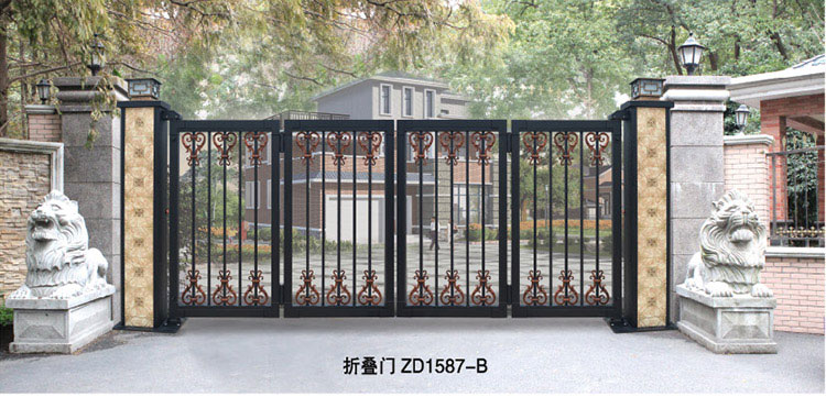 电动折叠门 - 折叠门ZD1587-B - 镇江中出网-城市出入口设备门户