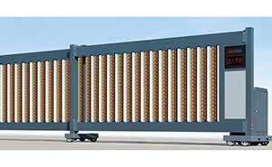 直线平移门 - 直线门906E(磨砂深灰) - 沧州中出网-城市出入口设备门户