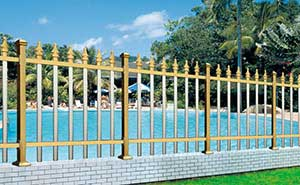 铝艺护栏 - FGL 护栏 03(钛金色) - 沧州中出网-城市出入口设备门户