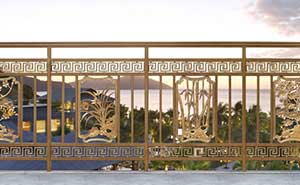 铝艺护栏 - 护栏FGL-H6005 - 沧州中出网-城市出入口设备门户