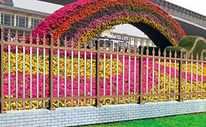 铝艺护栏 - FGL 护栏(红古铜色) - 惠州中出网-城市出入口设备门户