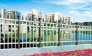 铝艺护栏 - FGL 护栏 04(黑钛金) - 惠州中出网-城市出入口设备门户