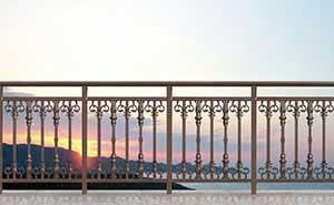 铝艺护栏 - 护栏FGL-H6004 - 惠州中出网-城市出入口设备门户