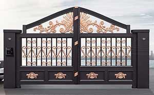 铝艺大门 - 别墅门LV-001 - 威海中出网-城市出入口设备门户